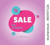exclusive sale advertising... | Shutterstock . vector #483457126