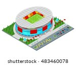 isometric football soccer... | Shutterstock .eps vector #483460078