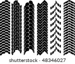 clean off road tyre track set | Shutterstock .eps vector #48346027