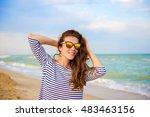 summer holidays and vacation... | Shutterstock . vector #483463156