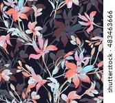 seamless pattern of wild... | Shutterstock . vector #483463666