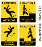 Wet Floor  Stairways  Watch...