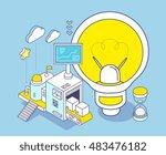 vector illustration of yellow... | Shutterstock .eps vector #483476182