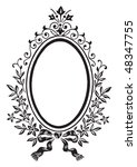 antique frame engraving ... | Shutterstock .eps vector #48347755