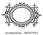 antique frame engraving ... | Shutterstock .eps vector #48347923