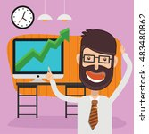businessman employee concept... | Shutterstock .eps vector #483480862