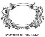 antique frame engraving ... | Shutterstock .eps vector #48348334