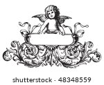 antique label engraving ...