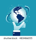 world at your fingertips.... | Shutterstock .eps vector #483486055