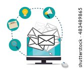 computer and envelope icon....   Shutterstock .eps vector #483489865