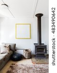 cosy retro 70's style living...   Shutterstock . vector #483490642