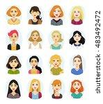 avatar illustrations of various ... | Shutterstock .eps vector #483492472