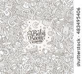 cartoon cute doodles hand drawn ... | Shutterstock .eps vector #483495406