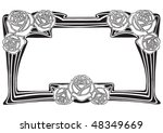 antique frame engraving ... | Shutterstock .eps vector #48349669