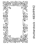 antique frame engraving ... | Shutterstock .eps vector #48349942