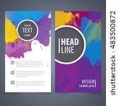 brochure template layout  cover ... | Shutterstock .eps vector #483500872