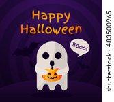 halloween background with... | Shutterstock .eps vector #483500965