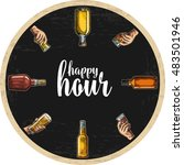 coaster for alcohol drinks with ... | Shutterstock .eps vector #483501946