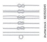rope knots collection.... | Shutterstock .eps vector #483502045