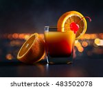 cocktail tequila sunrise on a... | Shutterstock . vector #483502078