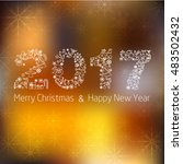 happy new year background.... | Shutterstock .eps vector #483502432