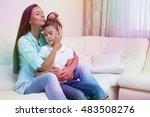 happy family portrait of mother ... | Shutterstock . vector #483508276
