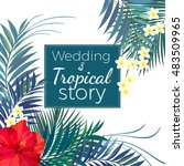beautiful wedding invitation... | Shutterstock .eps vector #483509965