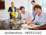 students as a team in business... | Shutterstock . vector #483511162