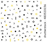 vector hipster pattern with... | Shutterstock .eps vector #483523156