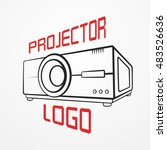 abstract logotype made of... | Shutterstock .eps vector #483526636