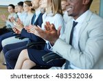 applause at the end of lecture | Shutterstock . vector #483532036