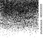 black glitter particles on... | Shutterstock .eps vector #483533035