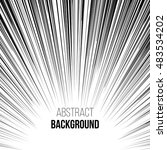 Abstract comic book black and white explosion down up radial speed lines background. Vector illustration