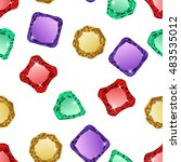 diamonds seamless pattern | Shutterstock .eps vector #483535012