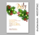 christmas party invitation with ... | Shutterstock .eps vector #483539362