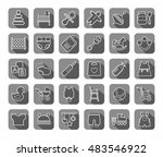baby products  contour icons ... | Shutterstock .eps vector #483546922