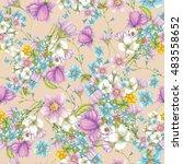 seamless pattern of hand drawn... | Shutterstock . vector #483558652