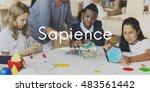 sapience highly educated people ... | Shutterstock . vector #483561442