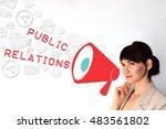 public relations  pr concept on ... | Shutterstock . vector #483561802