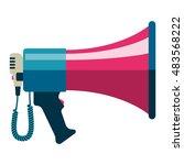 flat vector icon of megaphone... | Shutterstock .eps vector #483568222