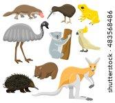 Australia Wild Animals Cartoon...