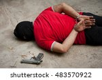 disgusting criminal with strong ... | Shutterstock . vector #483570922