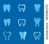 set of teeth  tooth icons on... | Shutterstock .eps vector #483580192