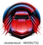 original modern concept sports... | Shutterstock .eps vector #483581722