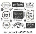 vector set of hand drawn doodle ... | Shutterstock .eps vector #483598612