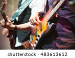 old style rock music background ... | Shutterstock . vector #483613612