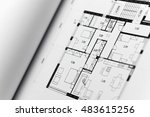 architectonic presentation by... | Shutterstock . vector #483615256