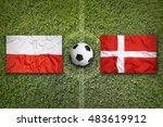 poland and denmark flags on a... | Shutterstock . vector #483619912