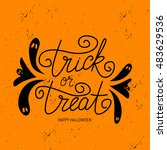 vector hand drawn banner trick... | Shutterstock .eps vector #483629536