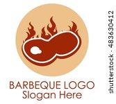 barbecue logo template   Shutterstock .eps vector #483630412